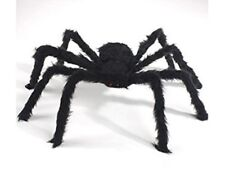 ASIBT 2 Pcs 200cm Large Black Realistic Fake Spider Plush Halloween Prank Jokes