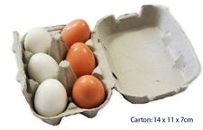 Fun Factory Wooden Eggs in a Case Pretend Role Play Kitchen Food Egg Toy
