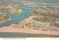 MI St Joseph SILVER BEACH AMUSEMENT PK Roller Coaster AERIAL VEIW 4x6 postcard