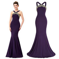 Formal Long Evening Prom Party Dress Bridesmaid Dresses Ball Gown #Noble Purple#