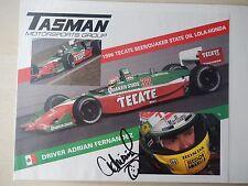 "Adrian Fernandez Autographed 10"" X 8"" Photo Slick"