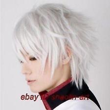 Wigs,Gintama Sakata Gintoki, blanc animation Cosplay fête plein cheveux
