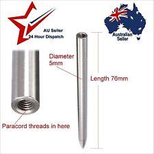 "Steel Paracord Lacing Stitching Weaving Needle - 3"" Fid 550 Para Cord Bushcraft"