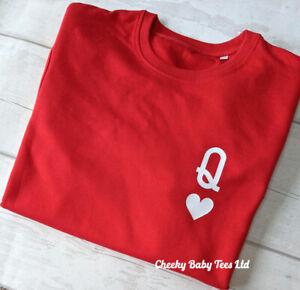 Queen of Hearts Women's Ladies Sweatshirt Sweater Jumper up to size 20 3 colours