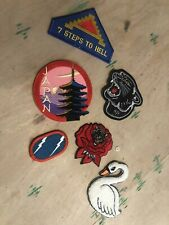 Lot Of vintage Patches Military Random Chenile