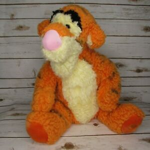 """Disney Store Cuddler Tigger 18"""" Fuzzy Shaggy Plush Winnie The Pooh"""