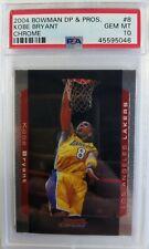 2004-05 Bowman Chrome Draft Picks & Prospects Kobe Bryant #8, PSA 10, Pop 15 !