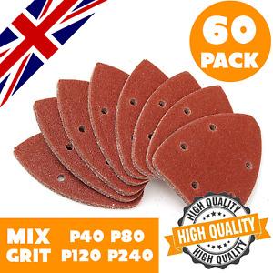 60 Mouse Sanding Sheets 140mm Palm Sander Sandpaper Detailed Sanding Mixed Grit