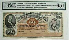 "Mexico ""Nacional Monte Piedad"" Pick S268r1 - 50 Pesos PMG 65 EPQ"