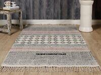 Indian Cotton Block Print Kilim Rug Hand Woven Handmade sofa Yoga Mat Dhurrie