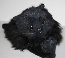 "Ty Classic Licorice Black Persian Cat 15"" Plush Stuffed Laying Toy Vtg 1987"