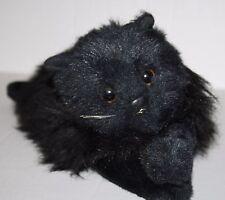 "TY Classic LICORICE Black Plush Persian Cat 15"" Stuffed Laying Toy Vtg 1987"