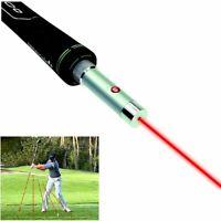 Laser sight for golf swing training flat corrector simulator pointer point tools