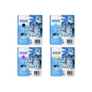 Genuine Black & Colour Ink Cartridges 4 Pack for Epson Workforce WF-3620DWF