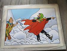 Vente Hergé-Grande affiche cartonné sur support-Trésor des Incas 4