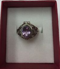 STERLING SILVER Real Amethyst Ladies Ring SZ6-3/4 & 3.7gr