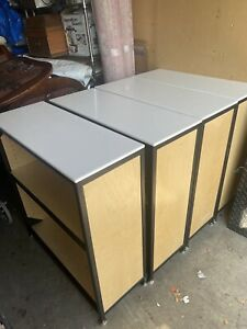 3 Poly Top Plywood Constructed Commercial Display Shelves / Bookcases