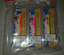 YO-ZURI OITA EGI PAINTED SQUID JIG 2.5 SET, TOTANARA - JAPAN, SUPER AFFARE !!!