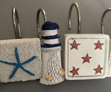 nautical shower curtain hooks