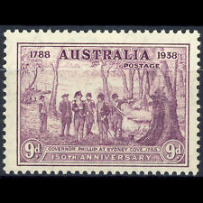 AUSTRALIA 1937 9d Purple. New South Wales. SG 195. Lightly Hinged Mint. (AY242)