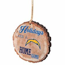 San Diego Chargers Christmas Tree Holiday Ornament Stump Holidays are Home Game