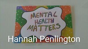 1 Handmade, Inspirational, positivity card, mental health matters, Gift, craft,