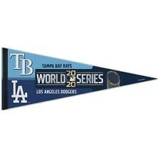Tampa Bay Devil Rays LA Dodgers 2020 World Series Dueling 12x30 Premium Pennant
