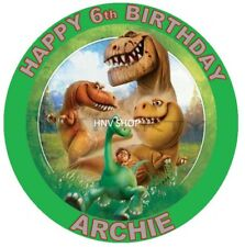 THE GOOD DINOSAUR Personalised Edible Icing  ROUND Cake Topper Decoration Image