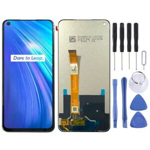 BLACK LCD Panel Screen Digitizer Full Complete Replacement For Oppo Realme 6