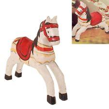 Mini 3D Pferd Holzpferd Spielpferd Autodeko Karusellpferd Kinderspielzeug