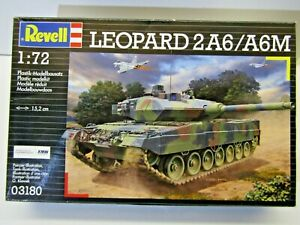 Revell 1:72 Scale German Leopard 2A6/A6M Tank Model Kit - Sealed - Kit # 03180