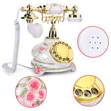 European Retro Rotary Phone Vintage Dial Telephone Handset Landline Telephone