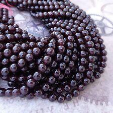 6mm grenat pierres précieuses perles aaa grade brin de 65 perles