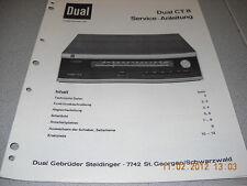 Dual CT8 Service Manual inkl. Berichtigung