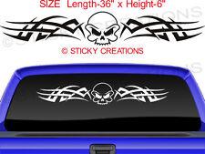 #102 SKULL DECAL Rear Window Tribal Sticker Design Car