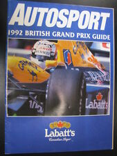Autosport 1992 British Grand Prix Guide, Silverstone 9 - 12 July
