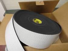 """3M SJ5904 Black Bumpon 12"""" L x 4-1/2"""" W x 1/4"""" H, Polyurethane Adhesive Pad  M32"""