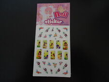 STICKERS ONGLES -FILLE-lot de 10 ongles +22 plus petits