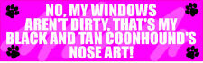 My Black And Tan Coonhound Nose Art Sticker