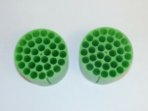 Pair of Sorvall Instruments Centrifuge Rotor Bucket Inserts 00858