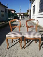 Coppia di sedie Luigi Filippo fine '800 in noce poltrone poltroncine sedia