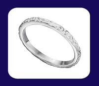 Silver Patterned Band Ring 925 Hallmark Wedding