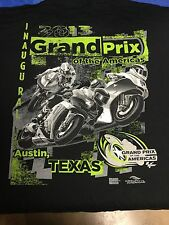 2013 GRAND PRIX OF THE AMERICAS Moto GP Event Logo BLACK T-Shirt 3XL NOS New!