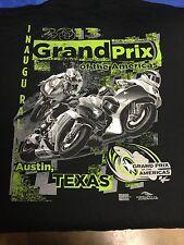 2013 GRAND PRIX OF THE AMERICAS Moto GP Event Logo BLACK T-Shirt 3XL NOS New!