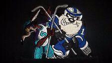XL Vintage Foghorn Leghorn TAZ Wile E Coyote HOCKEY Shirt Warner Bros Store 90's