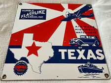 New ListingVintage Humble Gasoline Porcelain Sign, Gas Station, Pump Plate, Motor Oil