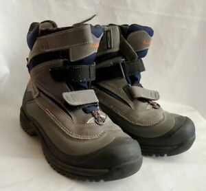 LL Bean Mens Gray/Black Suede Hiking Boots Size 7 M  250635  111808