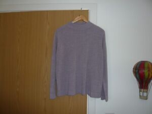 ladies bm jumper size large lilac pattern