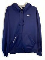 Under Armour Hooded Sweatshirt Jacket Mens Large Full Zip Athletic Blue Pockets