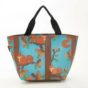 Blue Squirrel Print By Eco Chic Insulated Cool Lunch Bag